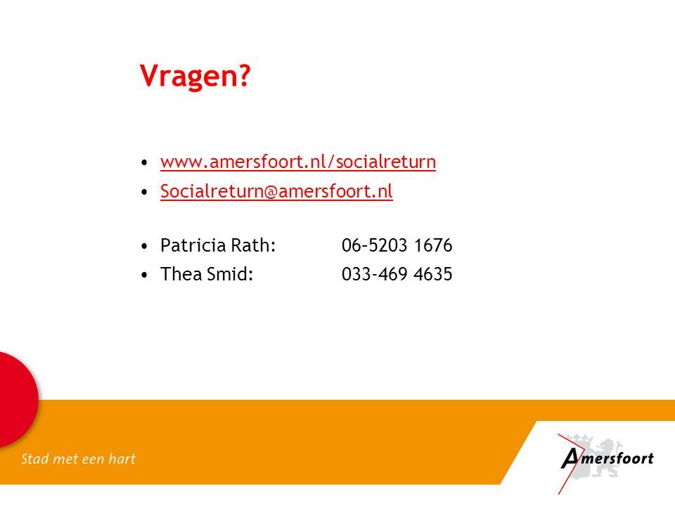 Vragen www.amersfoort.nl/socialreturn Socialreturn@amersfoort.nl