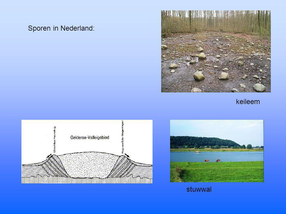 Sporen in Nederland: keileem stuwwal