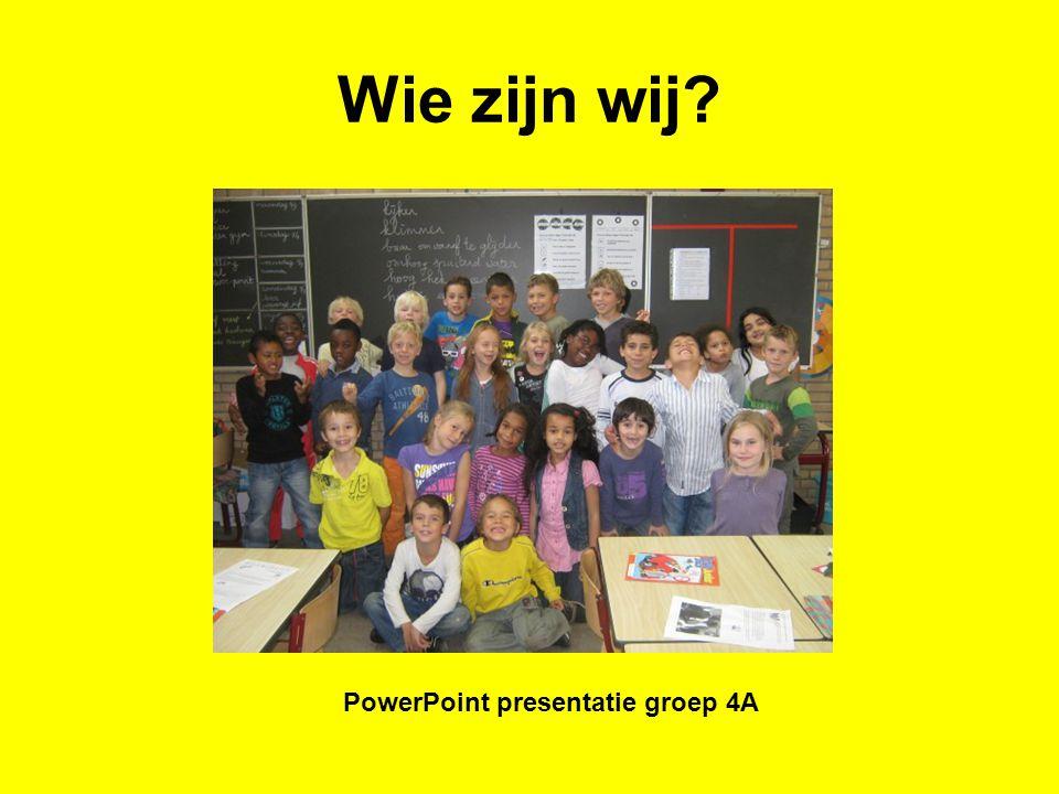 PowerPoint presentatie groep 4A