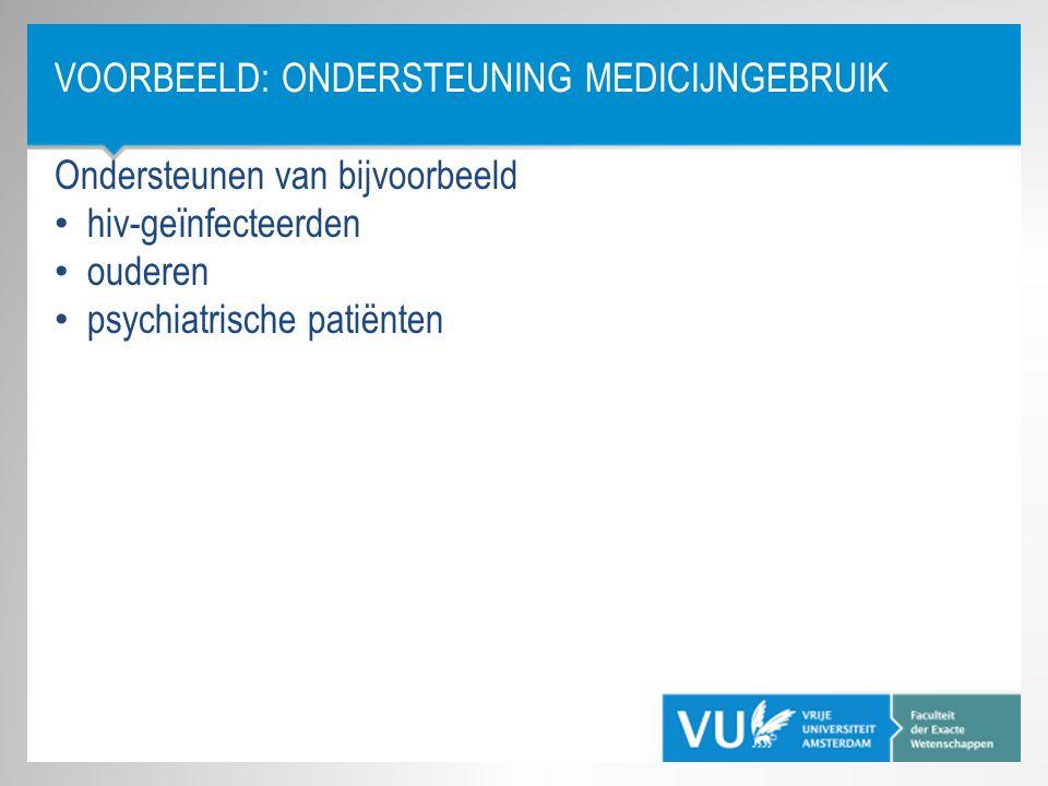 Voorbeeld: Ondersteuning Medicijngebruik