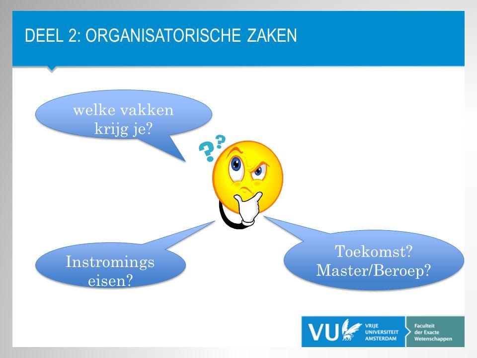 Deel 2: Organisatorische Zaken