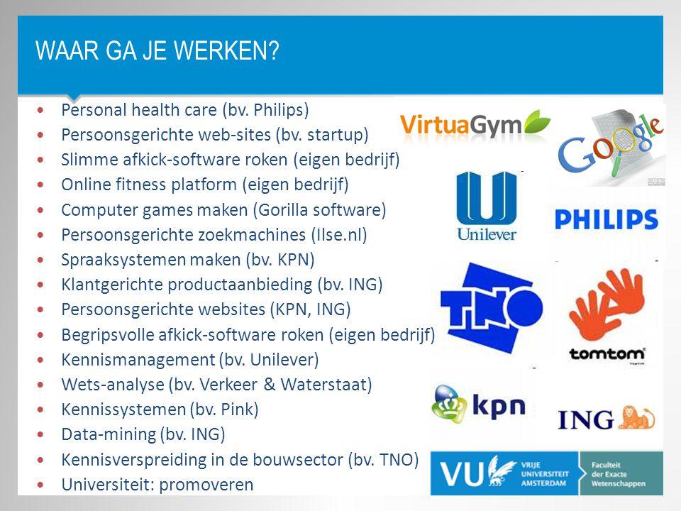 Waar ga je werken Personal health care (bv. Philips)