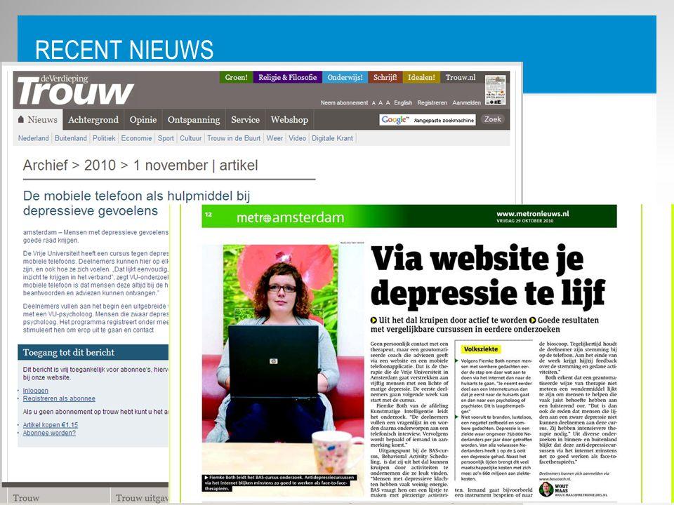 Recent Nieuws Recent nieuws!!! Voorbeeldapplicatie uit studie LI