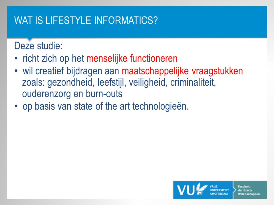 Wat is Lifestyle Informatics