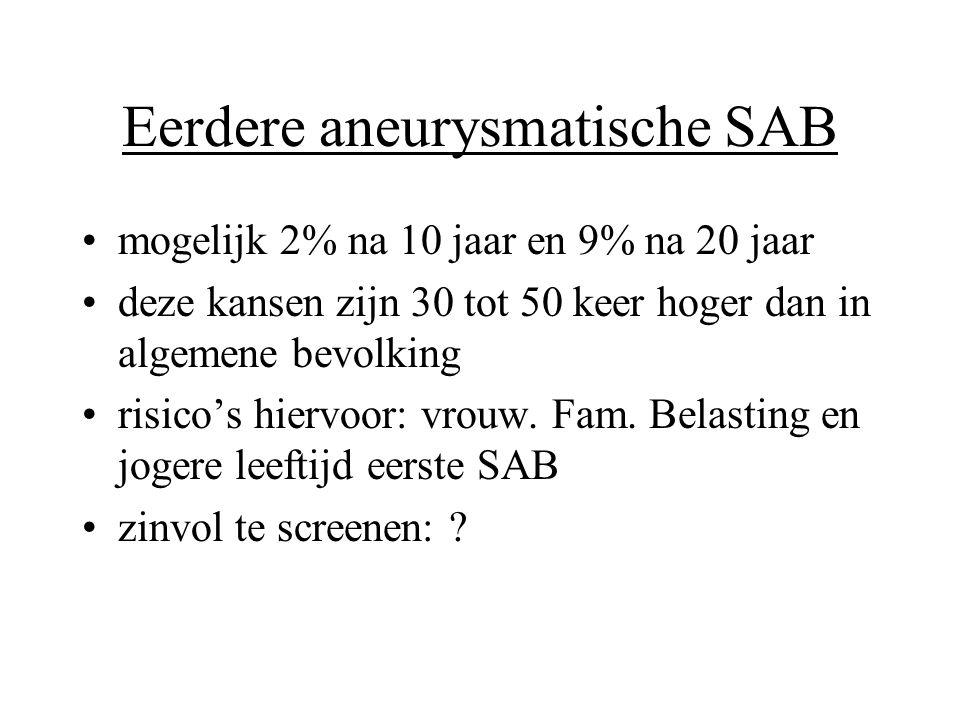 Eerdere aneurysmatische SAB