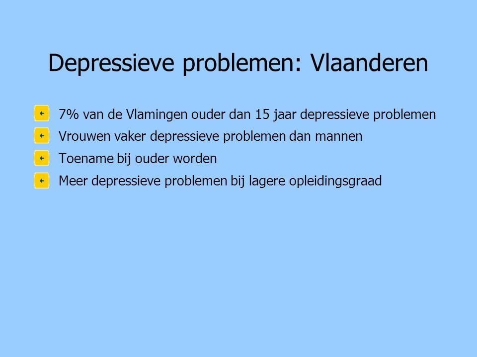 Depressieve problemen: Vlaanderen