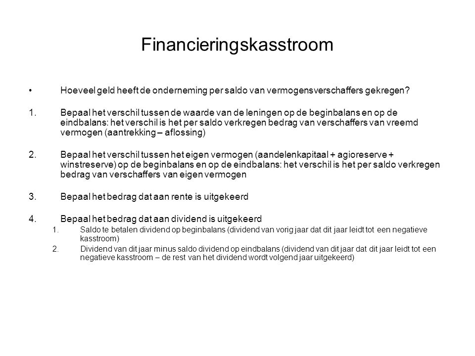 Financieringskasstroom