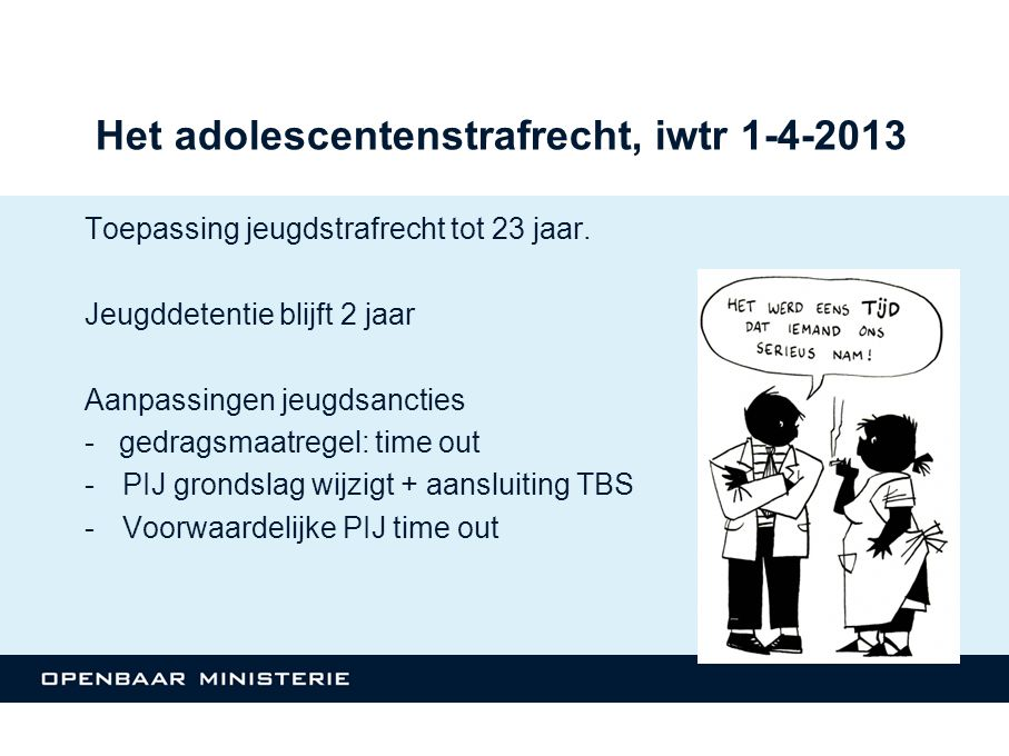 Het adolescentenstrafrecht, iwtr 1-4-2013