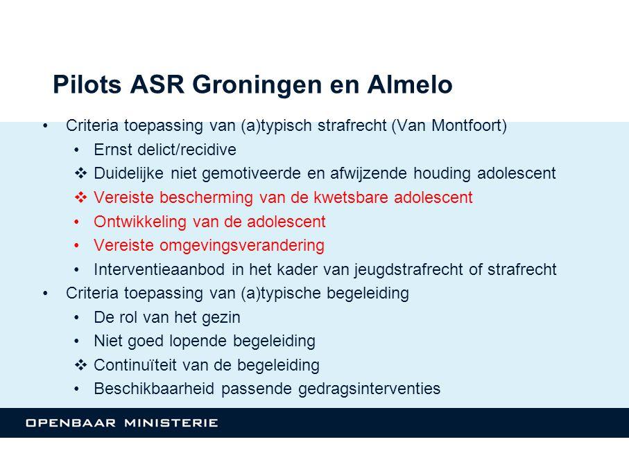 Pilots ASR Groningen en Almelo
