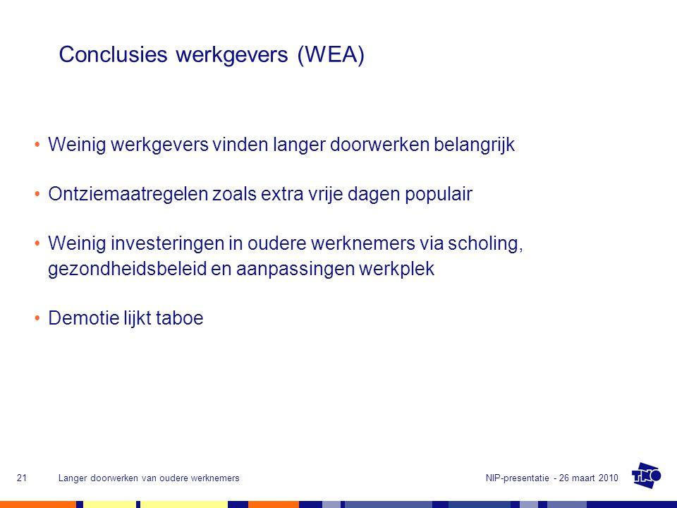 Conclusies werkgevers (WEA)