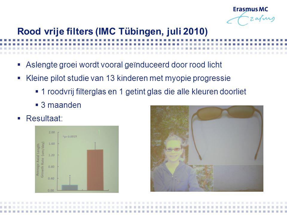 Rood vrije filters (IMC Tübingen, juli 2010)
