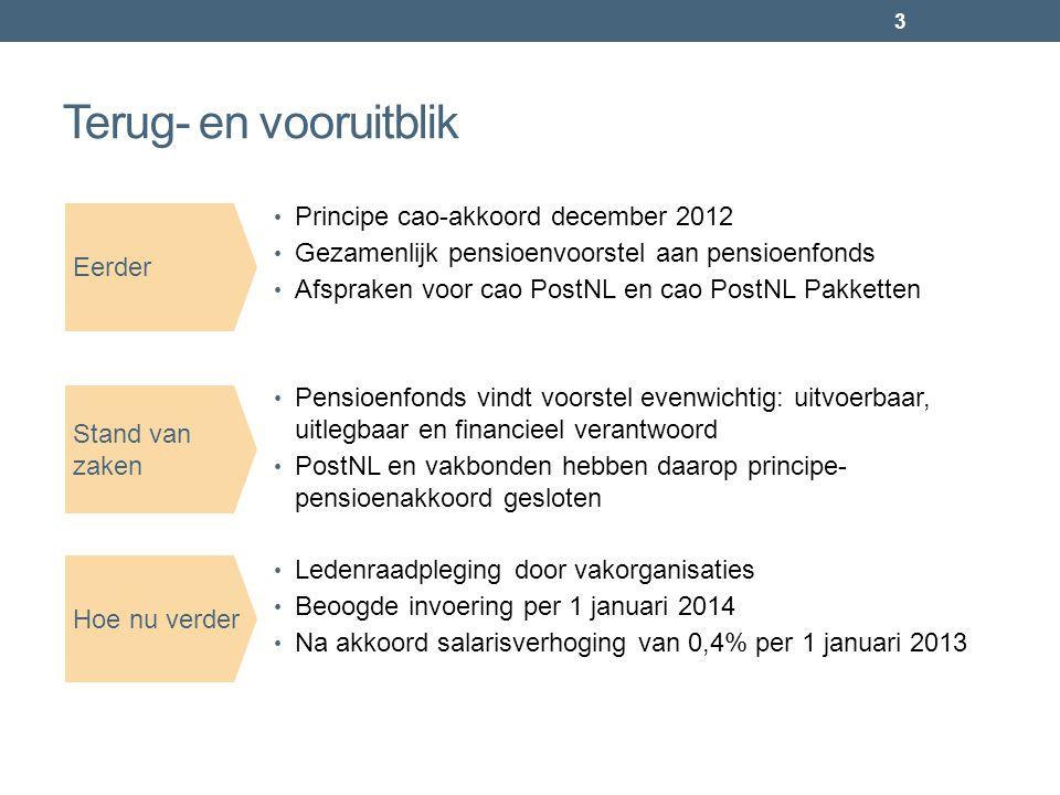 Terug- en vooruitblik Principe cao-akkoord december 2012
