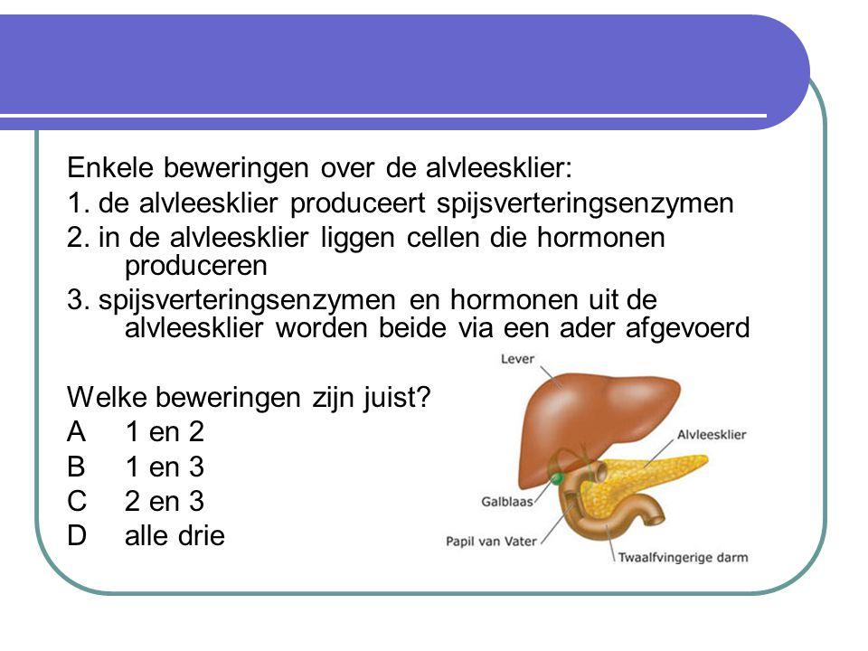 Enkele beweringen over de alvleesklier: