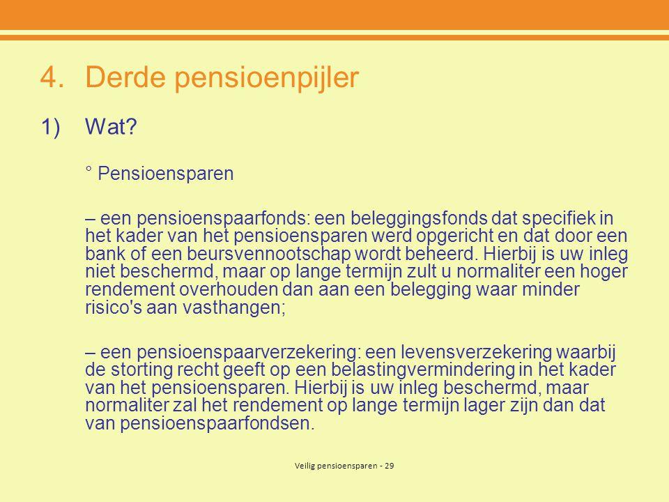 Veilig pensioensparen - 29