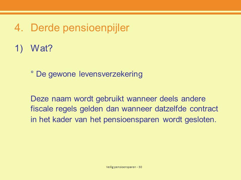 Veilig pensioensparen - 30