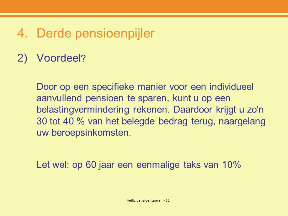 Veilig pensioensparen - 31
