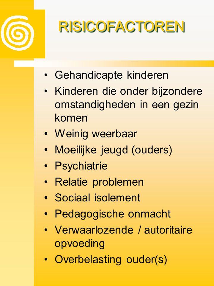 RISICOFACTOREN Gehandicapte kinderen