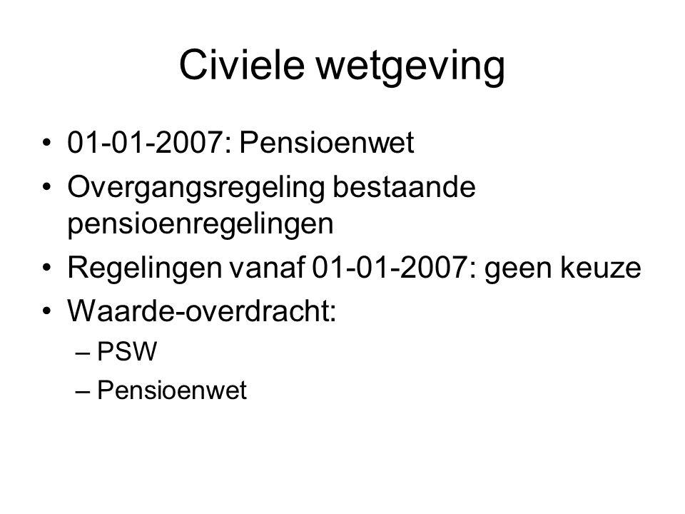 Civiele wetgeving 01-01-2007: Pensioenwet