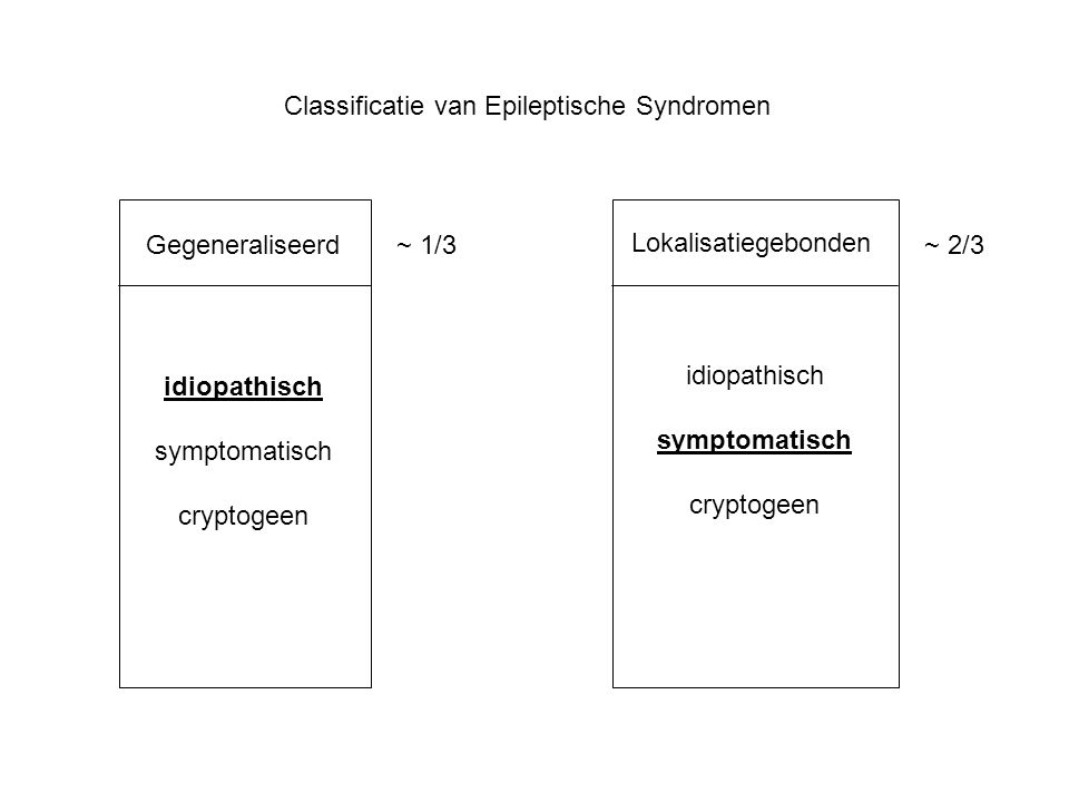 Classificatie van Epileptische Syndromen