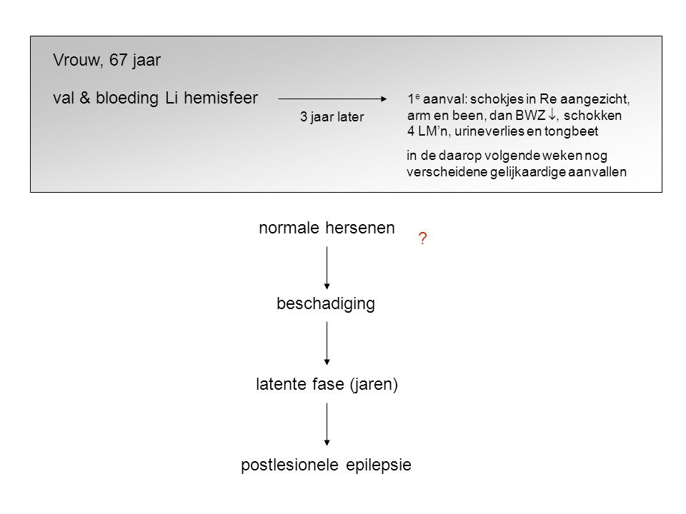 postlesionele epilepsie