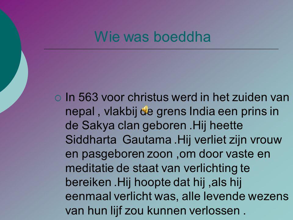Wie was boeddha