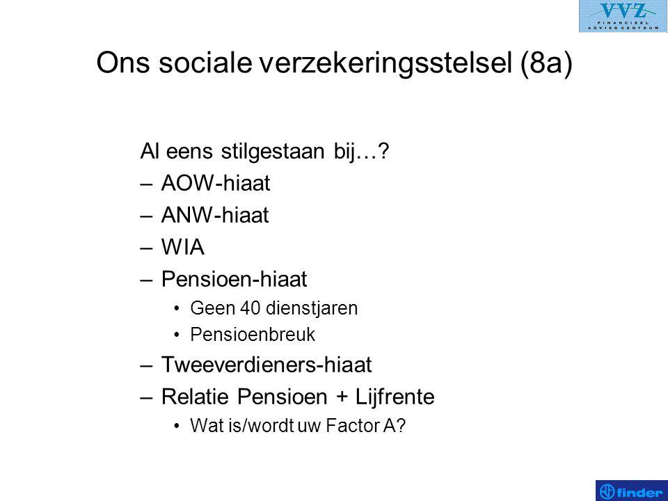 Ons sociale verzekeringsstelsel (8a)