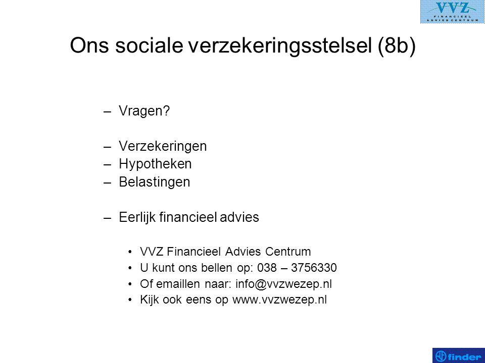Ons sociale verzekeringsstelsel (8b)