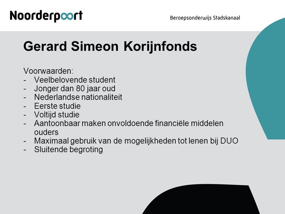 Gerard Simeon Korijnfonds