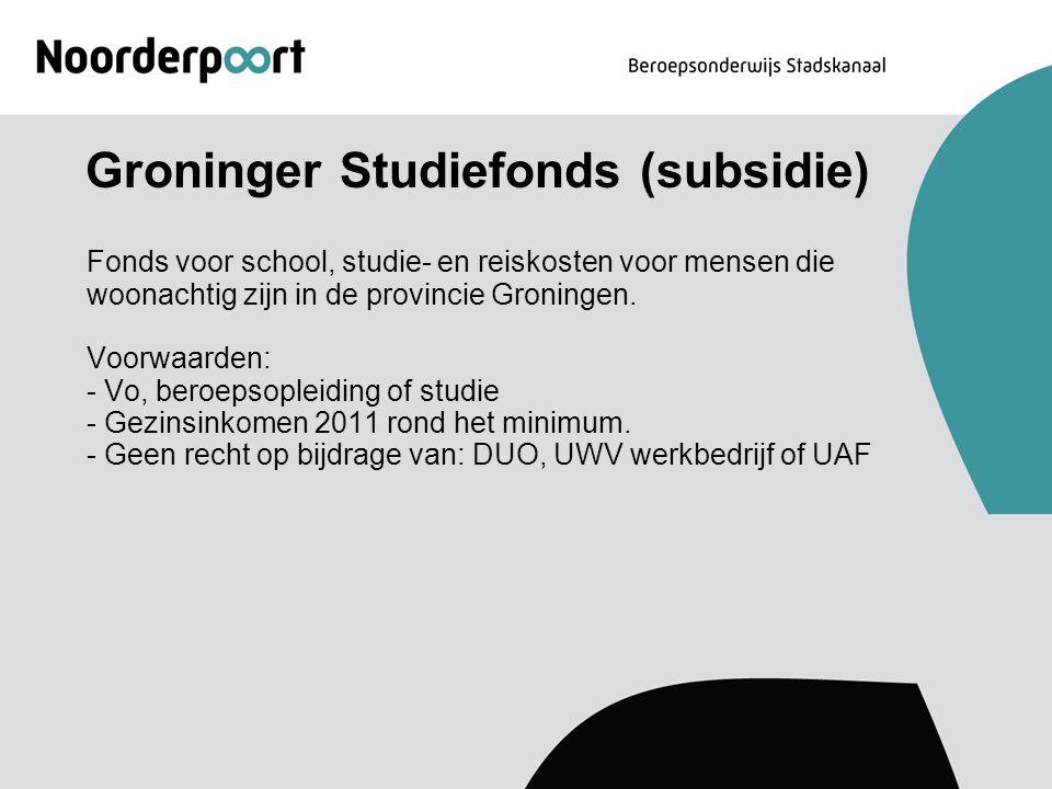 Groninger Studiefonds (subsidie)