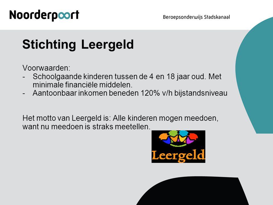 Stichting Leergeld Voorwaarden: