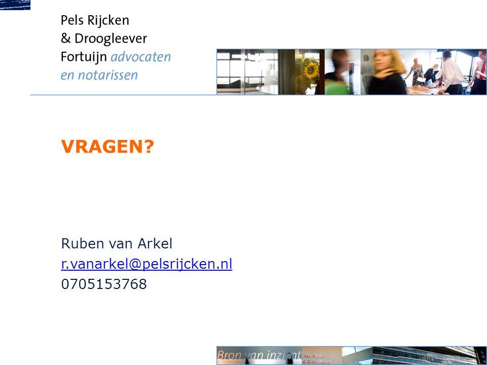 Ruben van Arkel r.vanarkel@pelsrijcken.nl 0705153768