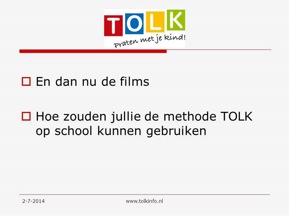 Hoe zouden jullie de methode TOLK op school kunnen gebruiken