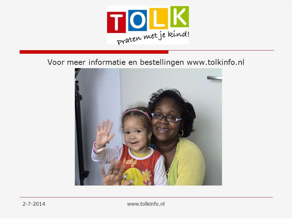 Voor meer informatie en bestellingen www.tolkinfo.nl