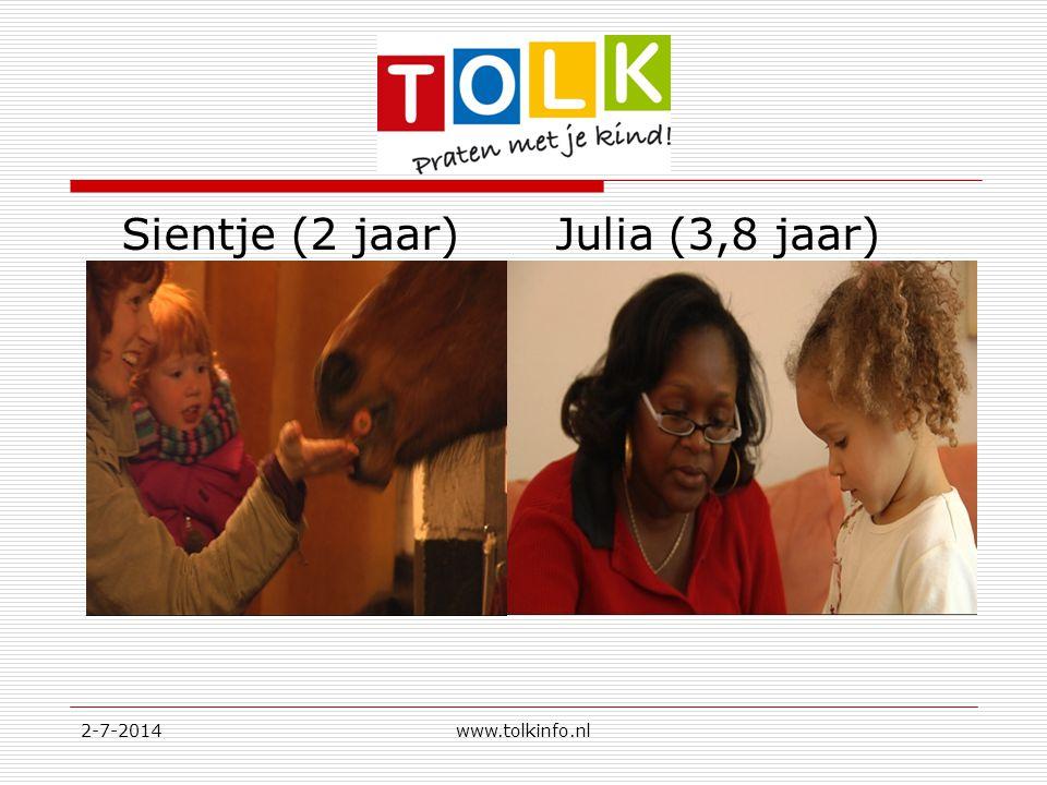 Sientje (2 jaar) Julia (3,8 jaar)