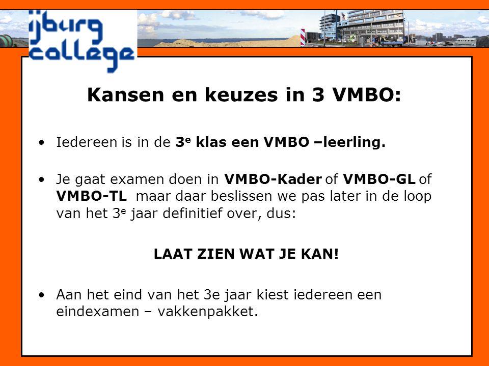 Kansen en keuzes in 3 VMBO: