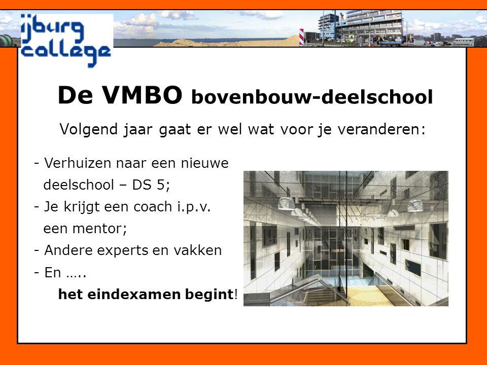 De VMBO bovenbouw-deelschool