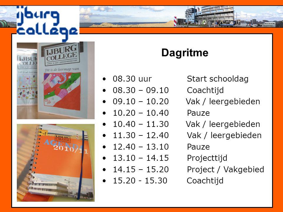 Dagritme 08.30 uur Start schooldag 08.30 – 09.10 Coachtijd