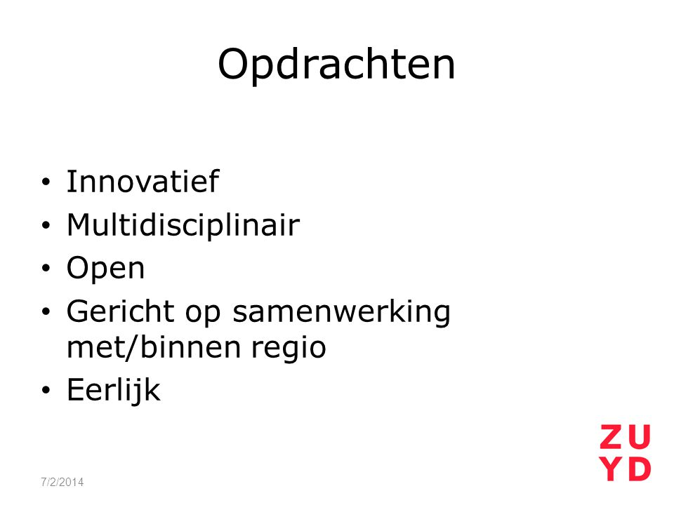 Opdrachten Innovatief Multidisciplinair Open