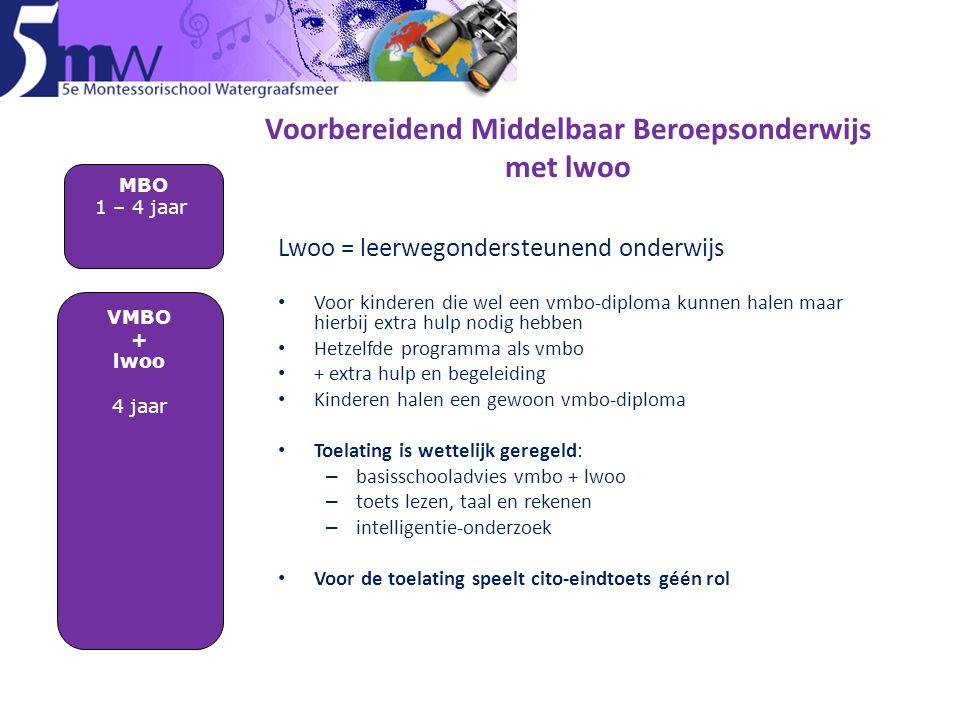 Voorbereidend Middelbaar Beroepsonderwijs met lwoo