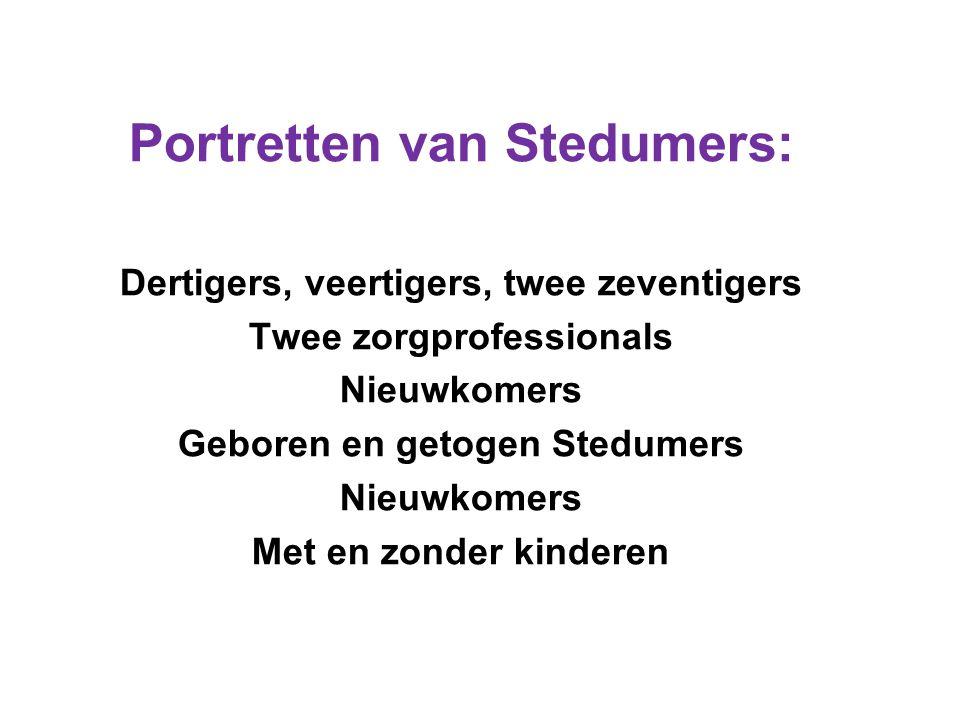 Portretten van Stedumers: