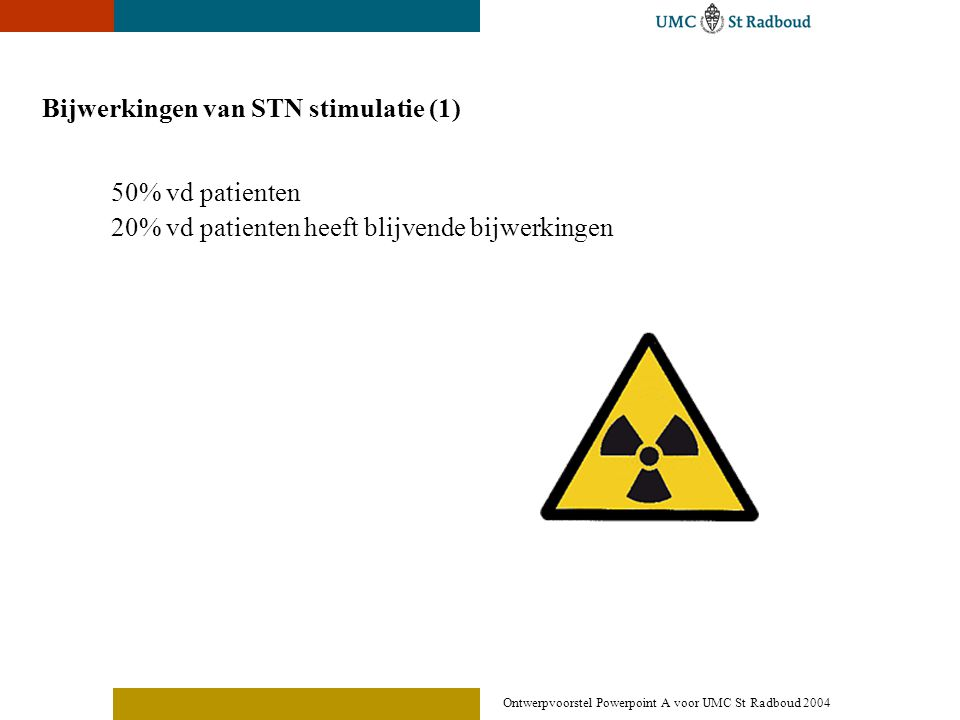 Bijwerkingen van STN stimulatie (1)