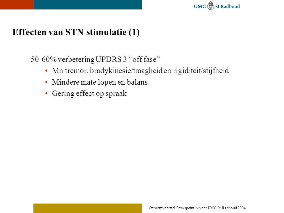 Effecten van STN stimulatie (1)