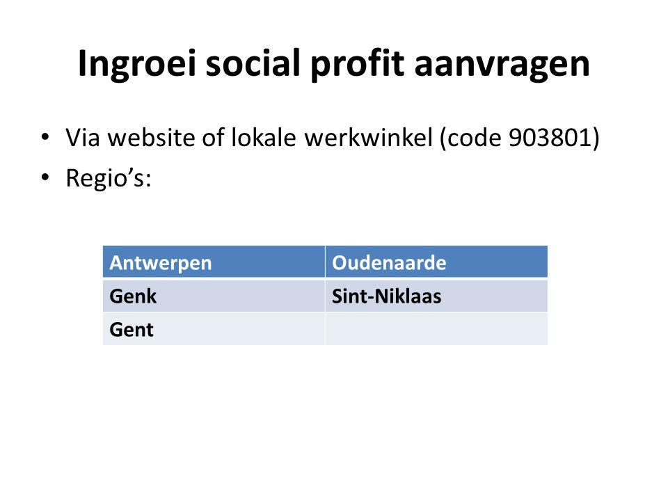 Ingroei social profit aanvragen