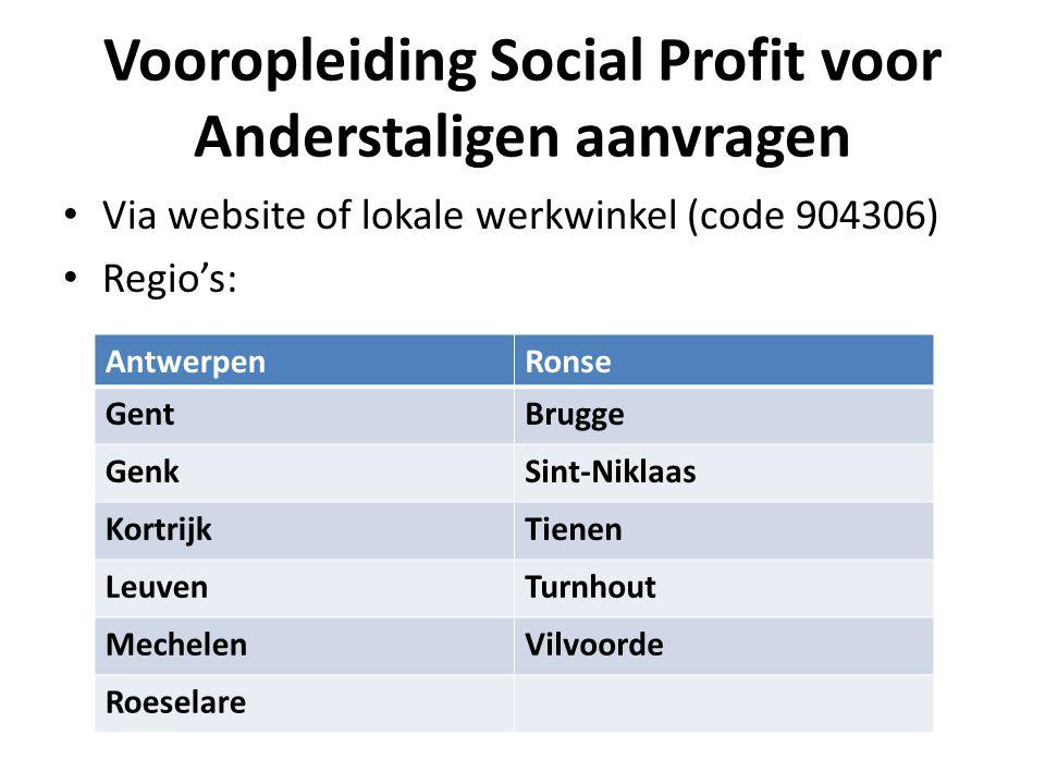 Vooropleiding Social Profit voor Anderstaligen aanvragen