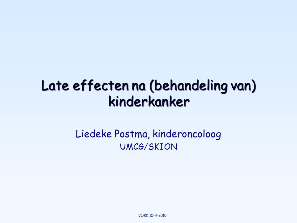 Late effecten na (behandeling van) kinderkanker