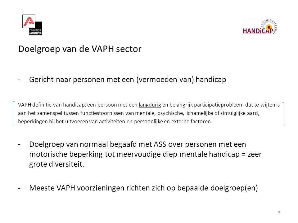 Doelgroep van de VAPH sector