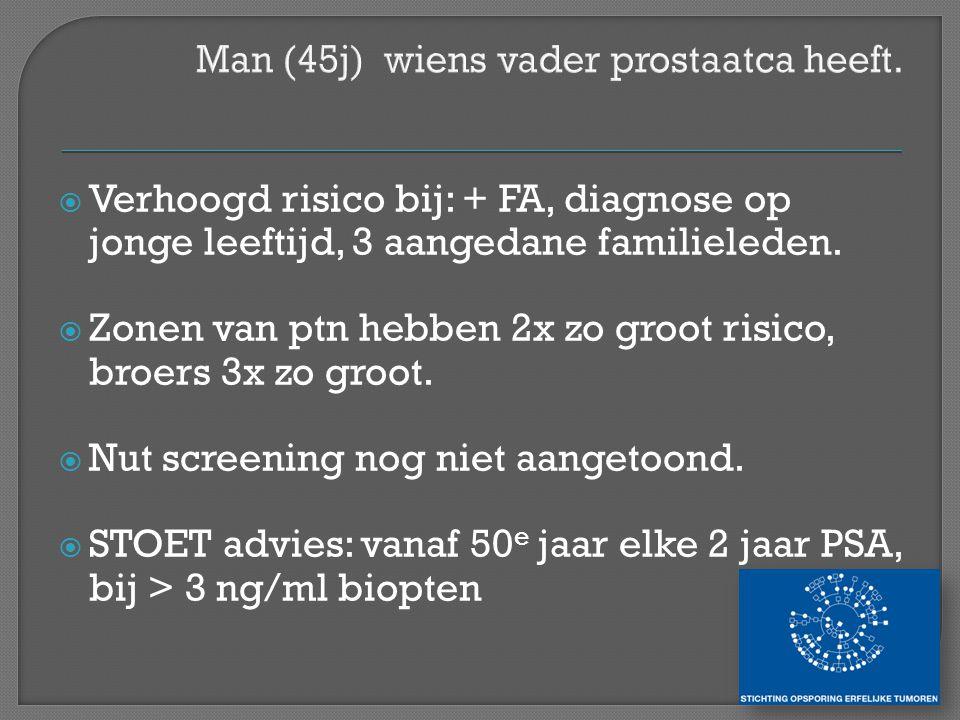 Man (45j) wiens vader prostaatca heeft.