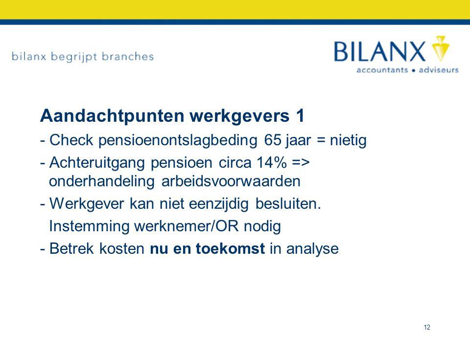 Aandachtpunten werkgevers 1