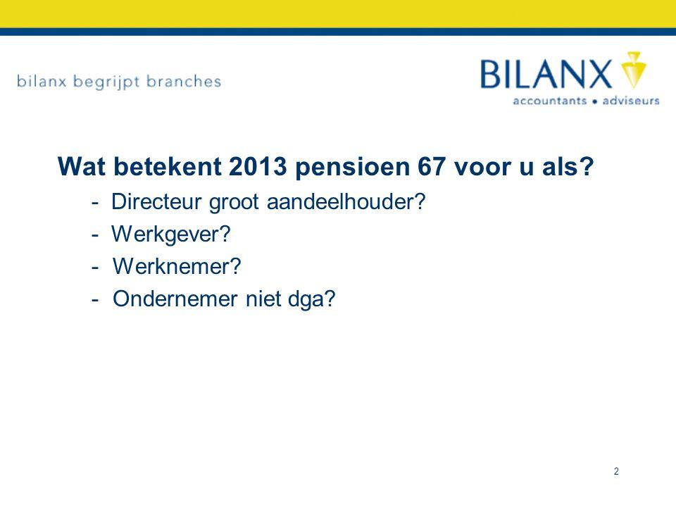 Wat betekent 2013 pensioen 67 voor u als