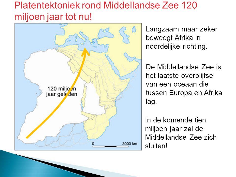Platentektoniek rond Middellandse Zee 120 miljoen jaar tot nu!